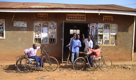 Members of a grassroots disabled people's organization in Kampala. Foto: Raphael Schwere, 2011.